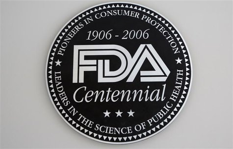 A view shows the U.S. Food and Drug Administration (FDA) logo at the lobby of its headquarters in Silver Spring, Maryland August 14, 2012. R