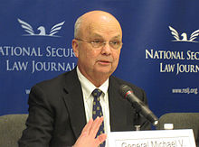 Former National Security Agency director Michael Hayden gave a series of background interviews on Thursday afternoon but chose an unusually public place to do it - an Amtrak train. Wikimedia.org
