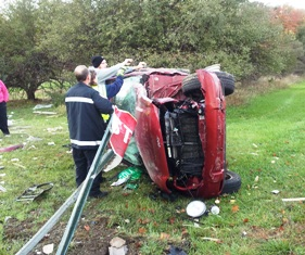 Accident at Old 27 and Central Road, Coldwater, October 25, 2013