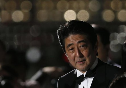 Japan's Prime Minister Shinzo Abe attends the opening event of the Tokyo International Film Festival in Tokyo October 17, 2013. REUTERS/Toru
