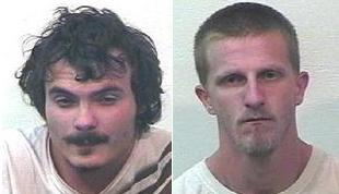 Matthew Durian and Jason Smith of Gobles.(mugshots courtesy of the Van Buren County Sheriff's Department