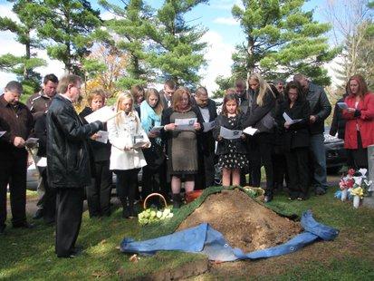Kira Steger graveside services 10/26/13