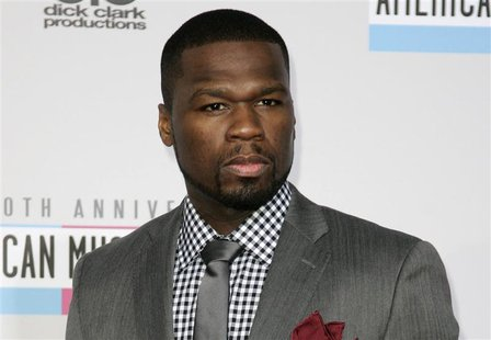 Rap artist Curtis Jackson, known as 50 Cent, arrives at the 40th American Music Awards in Los Angeles, California in this November 18, 2012