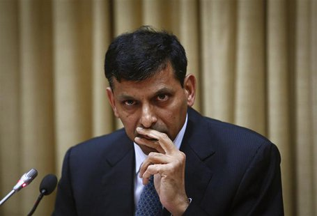 Raghuram Rajan, newly appointed governor of Reserve Bank of India (RBI), listens to a question during a news conference at the bank's headqu
