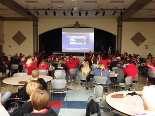 MHSAA football playoff announcement rally at Coldwater High School, October 27, 2013
