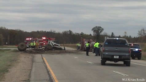 Emergency officials respond to a multi-vehicle crash on Hwy. 10 in Waupaca County, Monday, Oct. 28, 2013. (Photo by: FOX 11).