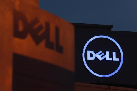 Dell logos are seen at its headquarters in Cyberjaya, outside Kuala Lumpur September 4, 2013. REUTERS/Bazuki Muhammad