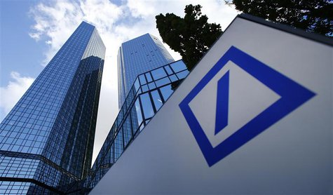 The headquarters of Deutsche Bank are pictured in Frankfurt October 29, 2013. REUTERS/Ralph Orlowski