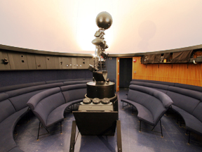 The interior of the UWSP Planetarium