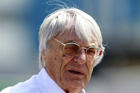 Formula One commercial supremo Bernie Ecclestone walks in the paddock before the Turkish F1 Grand Prix at the Istanbul Park circuit in Istan