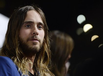"Musician and cast member Jared Leto attends the premiere of the film ""Dallas Buyers Club"" at the Academy of Motion Picture Arts and Sciences"