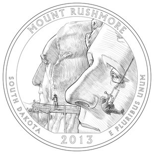 Mt. Rushmore quarter