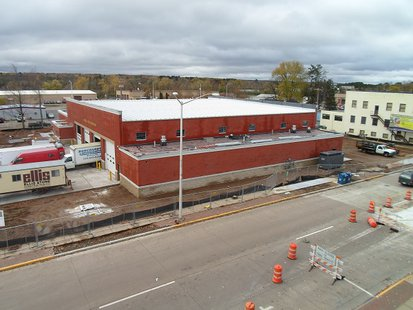 The new Merrill fire station under construction
