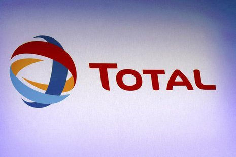 The logo of French oil company Total is pictured during the company's 2012 annual result presentation in Paris February 13, 2013. REUTERS/Ph