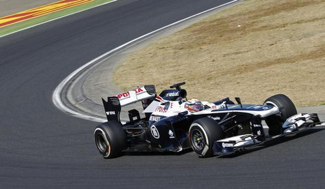Williams Formula One driver Pastor Maldonado of Venezuela drives during the Hungarian F1 Grand Prix at the Hungaroring circuit in Mogyorod,
