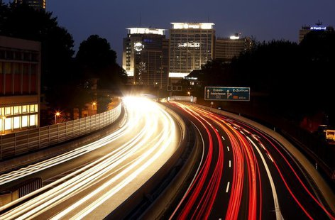 Traffic is seen at the motorway A40 in Essen August 22, 2013. REUTERS/Ina Fassbender