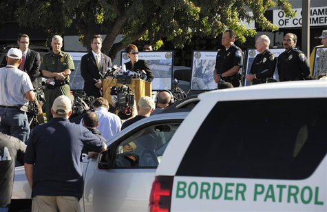 U.S. attorney Laura Duffy speaks during a news conference about a newly discovered drug smuggling tunnel in the Otay Mesa area of San Diego,