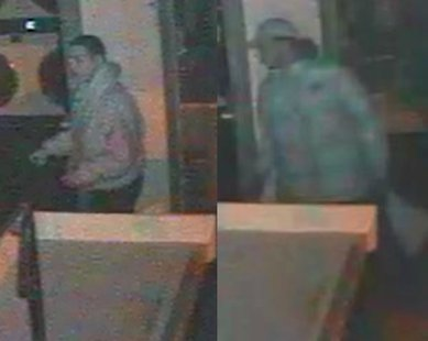 The suspects seen in stills taken from surveillance footage