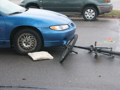 Car vs. bike crash