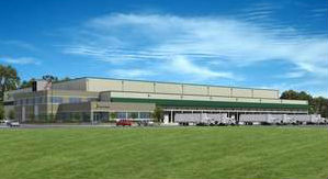 Artist rendering of new Service Cold Storage facility in Stevens Point.  Photo: Tippmann Group