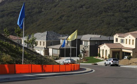 A general view of a new subdivision of recently sold single family homes in San Marcos, California October 25, 2013. From China to Canada an