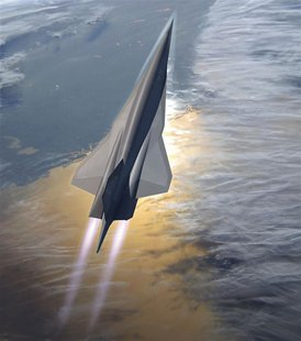 Lockheed Martin's planned SR-72 twin-engine jet aircraft is seen in this artist's rendering provided to Reuters November 1, 2013 by Lockheed