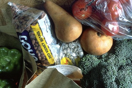 Grocery Bag of Healthy Foods By Bill Branson (Photographer) [Public domain or Public domain], via Wikimedia Commons
