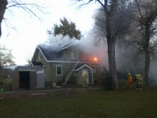 Firefighters battle house fire in Kent, Minnesota