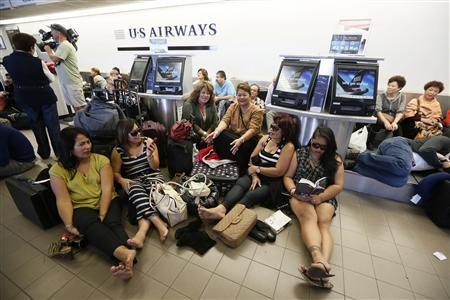 Passengers waiting at Los Angeles International Airport   Photo: REUTERS/Lucy Nicholson