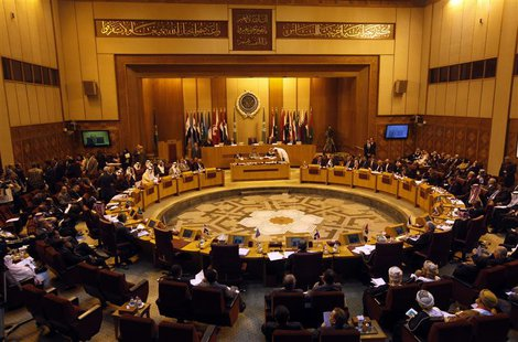 Foreign ministers of the Arab League countries meet in Cairo, in this general view taken November 3, 2013. REUTERS/Mohamed Abd El Ghany