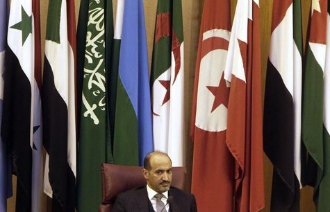 President of the Syrian National Coalition Ahmad Jarba attends the Arab foreign ministers' meeting in Cairo November 3, 2013. REUTERS/Mohame