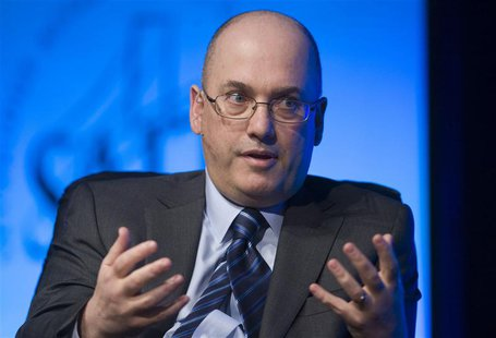 Hedge fund manager Steven A. Cohen, founder and chairman of SAC Capital Advisors, responds to a question during an interview in Las Vegas in