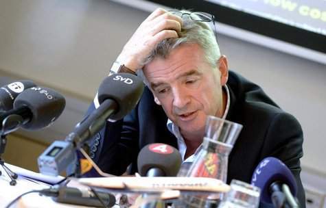 Ryanair's CEO Michael O'Leary attends a news conference at the Scandic Grand Central hotel in Stockholm August 29, 2013. REUTERS/Bertil Enev