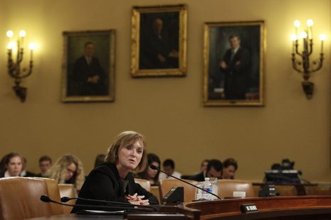 Marilyn Tavenner, administrator of the Centers for Medicare & Medicaid Services, testifies before a House Ways and Means Committee hearing o