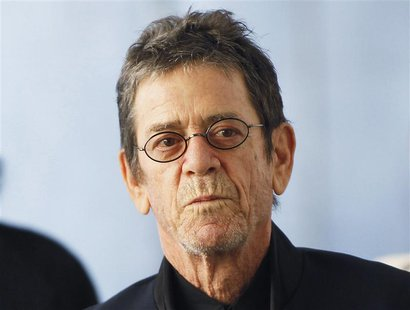 "Musician Lou Reed arrives for the Metropolitan Opera's premiere of ""Le Comte Ory"" at Lincoln Center in New York in this March 24, 2011 file"