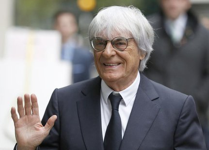 Formula One Chief Executive Bernie Ecclestone arrives at the High Court in central London November 6, 2013. Ecclestone was due to appear as
