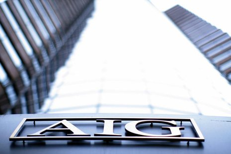 The logo of American International Group (AIG) is seen at their offices in New York in this file photograph from September 18, 2008. REUTERS