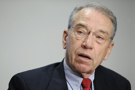 US Senator Charles Grassley (R-IA) answers questions during the 2009 Reuters Washington Summit in Washington, October 19, 2009. REUTERS/Jona