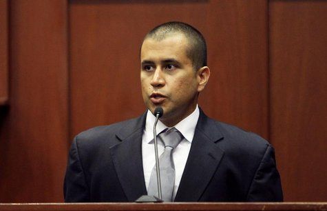 George Zimmerman testifies from the stand before Circuit Judge Kenneth Lester Jr. at the Seminole County Courthouse in Sanford, Florida, Apr