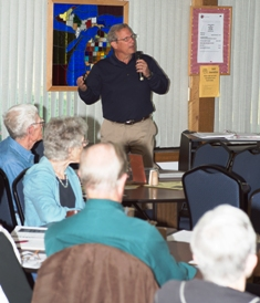David Rumminger, Senior Brigade at TRIAD presentation at H & C Burnside Senior Center in Coldwater