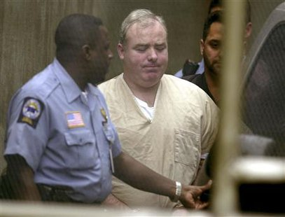 Kennedy cousin Michael Skakel,  is due in court on Wednesday to ask the judge who overturned his conviction to release him on bond while awaiting a new trial.  Credit: Reuters/Steven Senne/POOL