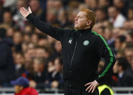 Celtic's coach Neil Lennon reacts during their Champions League soccer match at Amsterdam Arena November 6, 2013. REUTERS/Michael Kooren