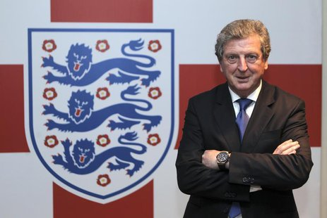 Newly appointed England soccer manager Roy Hodgson poses for a photograph in the tunnel at Wembley Stadium in London May 1, 2012. REUTERS/An
