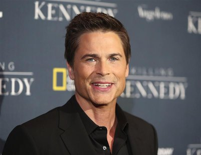 "Actor Rob Lowe, cast member of the National Geographic Channel drama program ""Killing Kennedy"" who portrays John F. Kennedy, attends the fil"