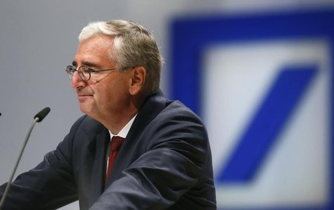 Paul Achleitner, head of the supervisory board of Deutsche Bank AG speaks during a shareholders meeting in Frankfurt May 23, 2013. REUTERS/R