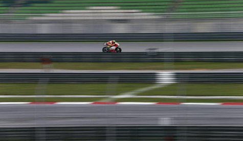 Ducati MotoGP rider Valentino Rossi of Italy rides during a free practice session ahead of the Malaysian Grand Prix in Sepang October 20, 20