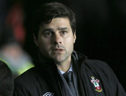 Southampton's manager Mauricio Pochettino is seen before their English Premier League soccer match against Manchester City at St Mary's Stad