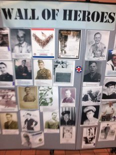 Wall of Heroes at H & C Burnside Senior Center, Coldwater, November 8, 2013