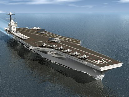 "Artists rendering of the U.S.S. Gerald R. Ford ""Supercarrier"". (U.S. Navy Photo)"