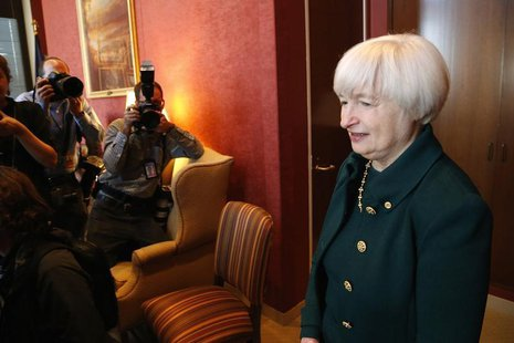 U.S. Federal Reserve Vice Chair Janet Yellen, President Barack Obama's nominee to succeed Ben Bernanke as chairman, arrives to meet with Sen